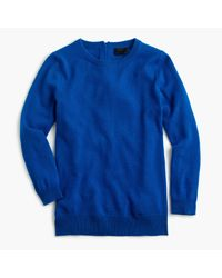J.Crew - Blue Italian Cashmere Button-back Sweater - Lyst
