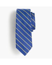 J.Crew | Blue Silk Tie In Thin Stripe for Men | Lyst