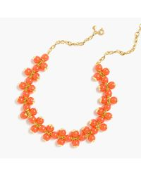 J.Crew | Orange Cluster Necklace | Lyst