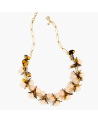 J.Crew - Metallic Tortoise And Blush Necklace - Lyst