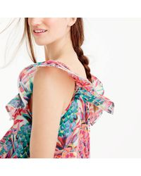 J.Crew - Multicolor Ruffle Top In Ratti Painted Pineapple - Lyst