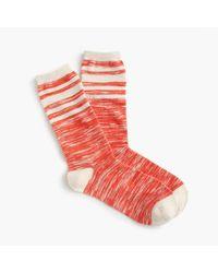 J.Crew | Red Marled Trouser Socks for Men | Lyst