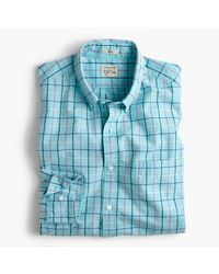 J.Crew | White Slim Secret Wash Shirt In End-on-end Cotton Check for Men | Lyst