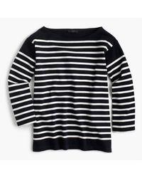 J.Crew   Blue Placed Stripe Boatneck T-shirt   Lyst