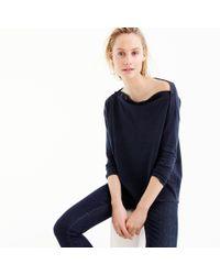 J.Crew | Blue Button Boatneck Sweater | Lyst