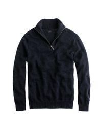 J.Crew - Gray Slim Cotton-cashmere Half-zip Sweater for Men - Lyst