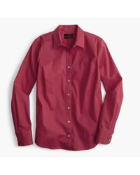 J.Crew - Red Stretch Perfect Shirt for Men - Lyst