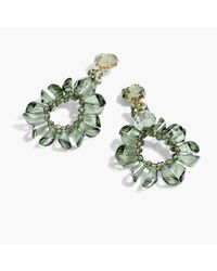 J.Crew | Green Wreath Earrings | Lyst