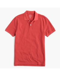 J.Crew | Red Slim Classic Piqué Polo Shirt for Men | Lyst