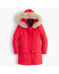 J.Crew | Red Chateau Parka In Stadium-cloth | Lyst