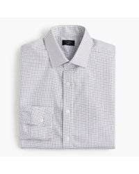 J.Crew - Blue Ludlow Stretch Two-ply Easy-care Cotton Dress Shirt In Microcheck for Men - Lyst