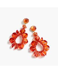 J.Crew | Red Wreath Earrings | Lyst