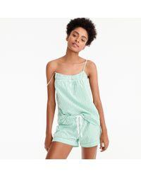 J.Crew - Blue Striped Pajama Set - Lyst