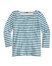 J.Crew - Blue Striped Boatneck T-shirt - Lyst