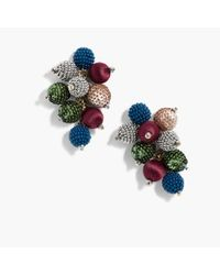 J.Crew | Blue Mixed-material Cluster Earrings | Lyst