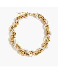 J.Crew - Metallic Twisty Beaded Necklace - Lyst