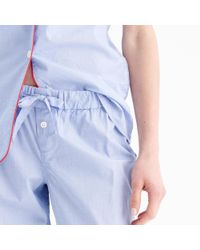 J.Crew - Blue Tipped Pajama Pant - Lyst