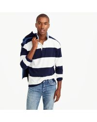 J.Crew | Tall Rugby Shirt In Blue-and-white Stripe for Men | Lyst
