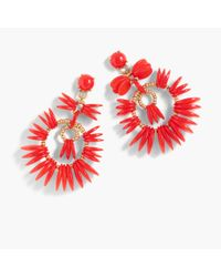 J.Crew | Red Disc Statement Earrings | Lyst