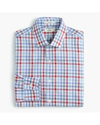 J.Crew | Blue Albiate 1830 Ludlow Slim-fit Spread-collar Shirt In Tattersall for Men | Lyst
