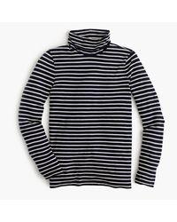 J.Crew - Blue Striped Tissue Turtleneck T-shirt - Lyst