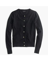 J.Crew | Black Lightweight Wool Jackie Cardigan Sweater | Lyst