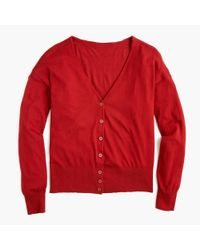 J.Crew - Red Universal Standard Cardigan Sweater - Lyst