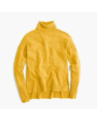 J.Crew | Yellow Relaxed Wool Turtleneck Sweater With Rib Trim for Men | Lyst