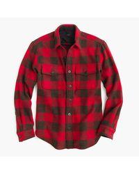 J.Crew - Red Slim Buffalo Check Cpo Shirt-jacket for Men - Lyst