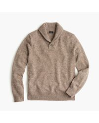 J.Crew - Natural Marled Lambswool Shawl-collar Sweater for Men - Lyst