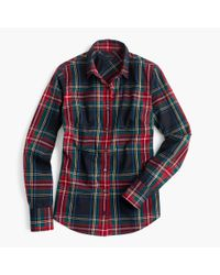 J.Crew | Black Tall Perfect Shirt In Stewart Plaid for Men | Lyst