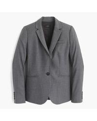 J.Crew - Gray Petite Campbell Blazer In Super 120s Wool - Lyst
