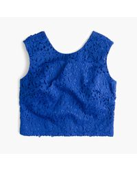 J.Crew | Blue Collection Lace Crop Top | Lyst