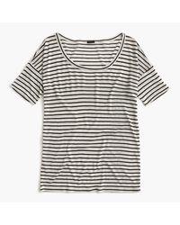 J.Crew | Black 10 Percent T-shirt In Stripe | Lyst