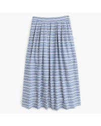 J.Crew | Blue Seersucker Midi Skirt | Lyst