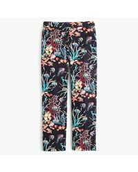 J.Crew | Blue Patio Pant In Ratti Under The Sea Print | Lyst