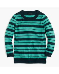 J.Crew | Green Tippi Sweater In Mixed Stripe | Lyst