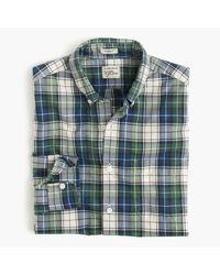 J.Crew | Secret Wash Shirt In Blue Tartan for Men | Lyst