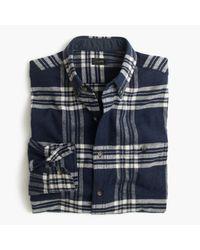 J.Crew | Blue Cotton-wool Elbow-patch Shirt In Dark Navy Plaid for Men | Lyst
