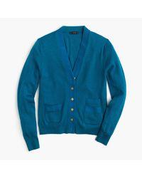 J.Crew | Blue Harlow Cardigan Sweater | Lyst