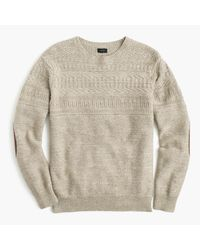 J.Crew | Natural Cotton Mariner Crewneck Sweater for Men | Lyst