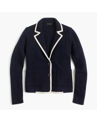J.Crew | Blue Tipped Sweater Blazer In Merino Wool | Lyst