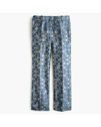 J.Crew | Blue Collection Cropped Pant In Italian Geometric Jacquard | Lyst