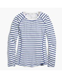 J.Crew | Blue New Balance In-transit Long-sleeve T-shirt In Stripe | Lyst