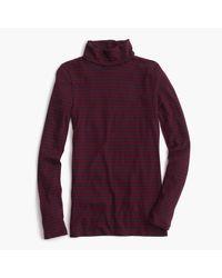 J.Crew | Purple Tissue Turtleneck T-shirt In Stripe | Lyst