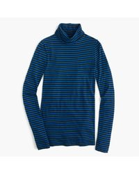 J.Crew | Blue Tissue Turtleneck T-shirt In Stripe | Lyst