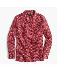 J.Crew   Red Collection Pajama Top In Ratti Hibiscus Herringbone Print for Men   Lyst