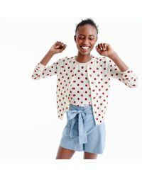J.Crew | Pink Jackie Cardigan Sweater In Sequin Polka Dot | Lyst