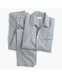 J.Crew | Cotton Poplin Pajama Set In Blue And Green Stripe for Men | Lyst
