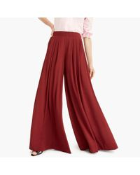 J.Crew - Red Collection Pull-on Wide-leg Pant - Lyst